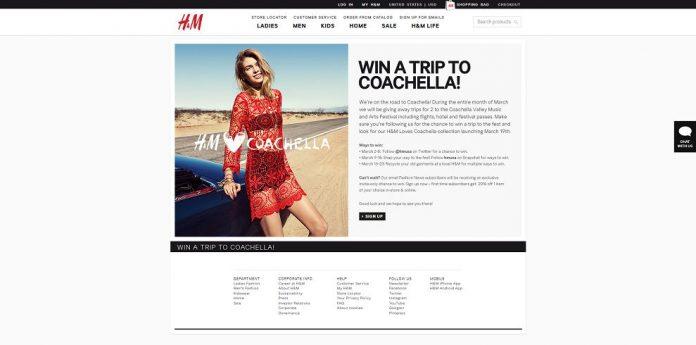 H&M Win A Trip To Coachella Contest