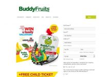Buddy Fruits Legoland Sweepstakes