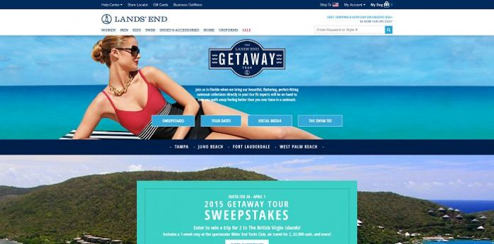 Lands' End 2015 Getaway Tour Sweepstakes