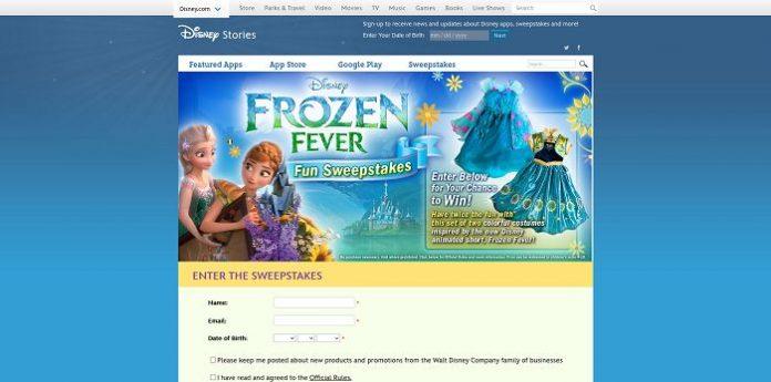 Frozen Fever Fun Sweepstakes Disney Stories disneystories.com/frozen-fever-fun