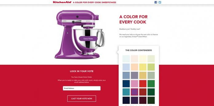 KitchenAid A Color for Every Cook Sweepstakes: Vote to Win!