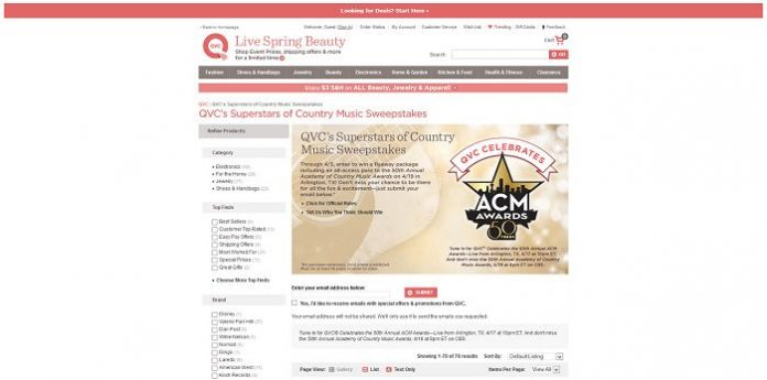 QVC's Superstars of Country Music Sweepstakes