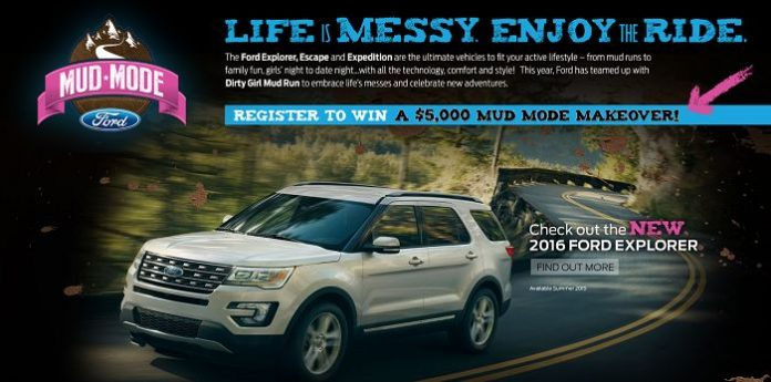 Ford Mud Mode Makeover Sweepstakes
