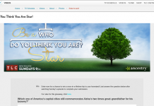 TLC's Be A Who Do You Think You Are? Star Sweepstakes 2016