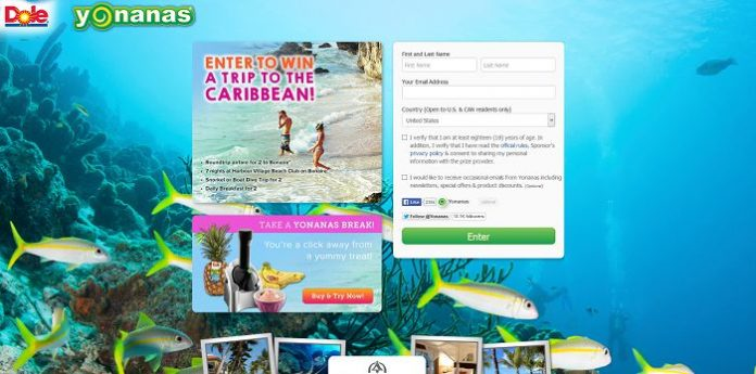 Go Yonanas in the Caribbean Sweepstakes
