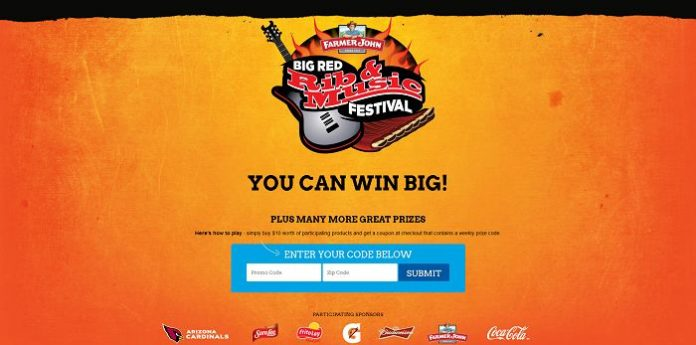 Albertsons Big Red Rib & Music Festival Sweepstakes (BigRedRibSweeps.com/ALB)