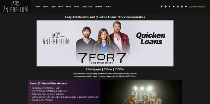 Lady Antebellum and Quicken Loans 7FOR7 Sweepstakes