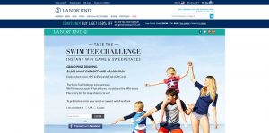 Lands' End Swim Tee Challenge Promotion
