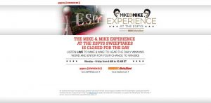 MikesESPYContest.com - Mike & Mike Experience At The ESPYs Sweepstakes