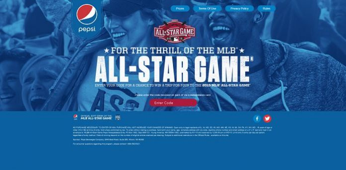 PepsiThrill.com: MLB All-Star Game Sweepstakes Presented By Pepsi