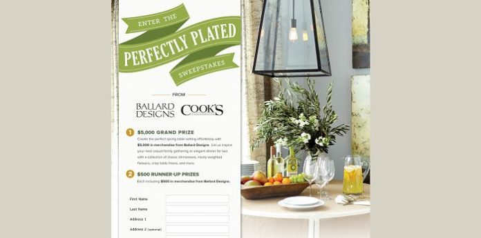 Perfectly Plated Sweepstakes