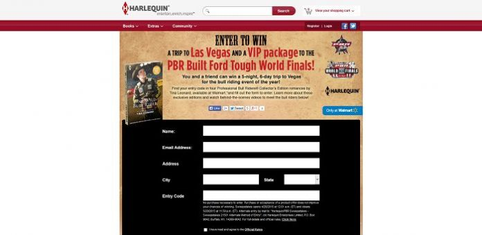 Harlequin.com/PBRSweepstakes: Harlequin PBR Sweepstakes