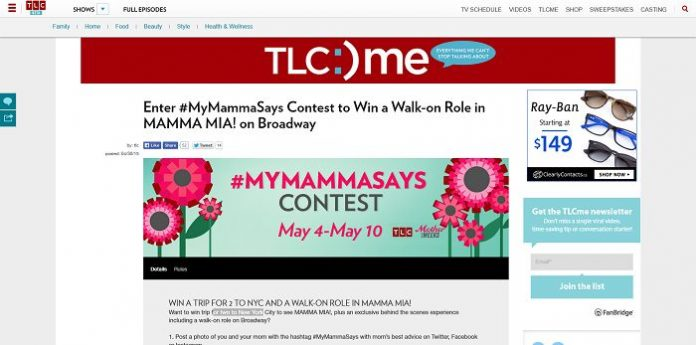 TLC #MyMammaSays Contest