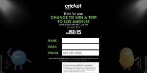CricketSweepstakes.com/BET - Cricket Wireless VIP Awards Weekend Sweepstakes
