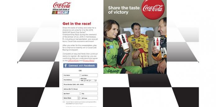 Gatti's Pizza Race Day Promotion (Coca-ColaRaceDay.com)