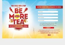 Lipton Be More Tea Sweepstakes (BeMoreTeaFestival.com)