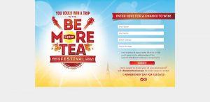 Lipton Be More Tea Sweepstakes (BeMoreTeaFestival.com)