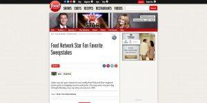 Food Network Star Fan Favorite Sweepstakes