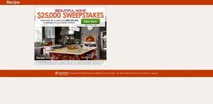 Recipe.com Beautiful Home $25,000 Sweepstakes