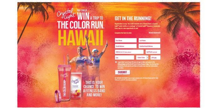 Crystal Light Color Run Instant Win and Sweepstakes