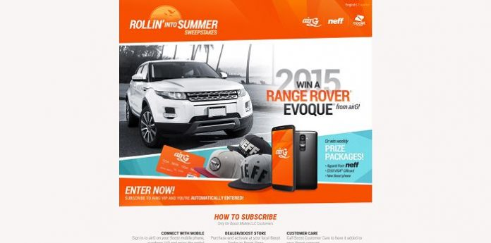 airG Rollin' Into Summer Sweepstakes