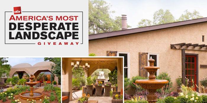 www.DIYnetwork.com/AMDLGiveaway - America's Most Desperate Landscape Giveaway