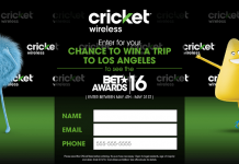 CricketSweepstakes.com/BET16 - Cricket Wireless BET Sweepstakes 2016