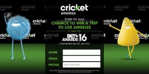 CricketSweepstakes.com/BET16 - Cricket Wireless BET Sweepstakes 2016