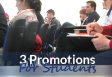 3 Promotions For Students