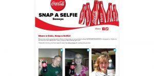 Coca-Cola's Snap A Selfie Sweepstakes