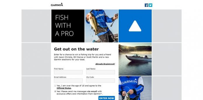 Garmin Fish With A Pro Sweepstakes