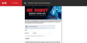 Mr. Robot Reboot Your Life Sweepstakes presented by Self/less