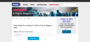 Travel Channel July 2015 Sweepstakes