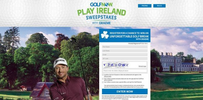 GolfNow Play Ireland with Graeme Sweepstakes (GolfNow.com/PlayIrelandWithGraeme)