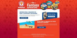 Popeyes Fantasy Adventure Promotion