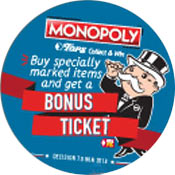 Tops Markets Monopoly Bonus Tickets