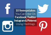 social media sweepstakes