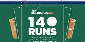 MLB.com Runs on Dunkin Sweepstakes