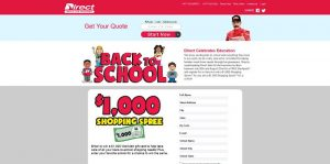 Direct Auto & Life Insurance Back to School 2015 Sweepstakes