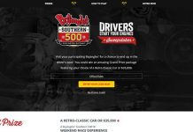 WinWithBo.com - Bojangles' Southern 500 Drivers, Start Your Engines Sweepstakes