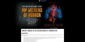 Fandango's Crimson Peak Sweepstakes