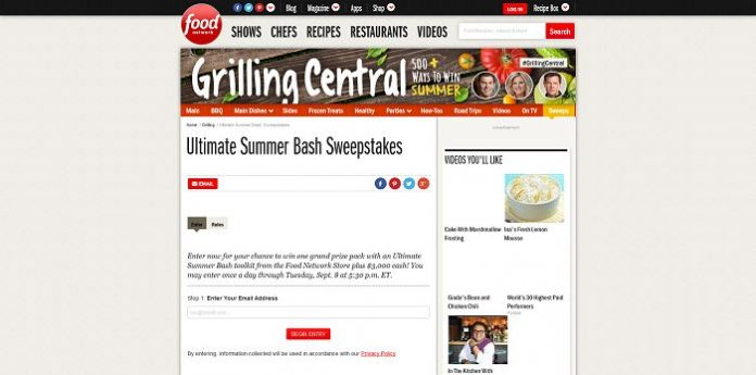 Food Network Ultimate Summer Bash Sweepstakes