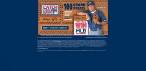 Kellogg's Win MLB Merchandise Text-to-Win Game