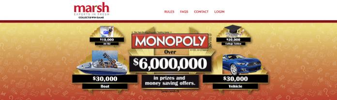 MarshMonopoly.com - Marsh Monopoly Collect And Win Game 2016