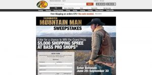 Bass Pro Shops Sasquatch Mountain Man Sweepstakes (BassPro.com/MountainManSweeps)
