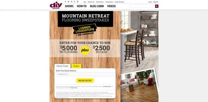 DIYNetwork.com/MountainRetreatFlooring - DIY Mountain Retreat Flooring Sweepstakes