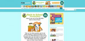 PBS KIDS Back to School Sweepstakes