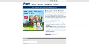 Purex Backyard Fun In The Sun Sweepstakes