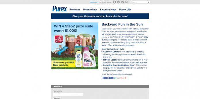 Purex Backyard Fun In The Sun Sweepstakes