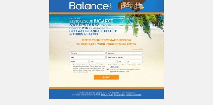 Restore Your Balance Sweepstakes (RestoreYourBalanceSweeps.com)